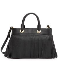 MILLY - Essex Small Leather Tote Bag - Lyst