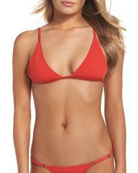 Minimale Animale - The Mirage Ribbed Bikini Top - Lyst