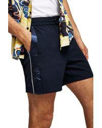 TOPMAN - Satin Side Stripe Shorts - Lyst
