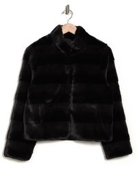 Love Token Billy Tiered Faux Fur Jacket - Black