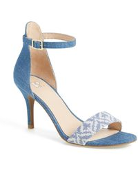 BP. 'luminate' Open Toe Dress Sandal - Blue