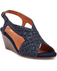 Matiko - Berwyn Snake Embossed Leather Wedge Sandal - Lyst