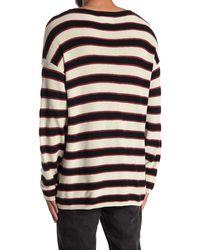 AllSaints Terren Crew Striped Shirt - Black