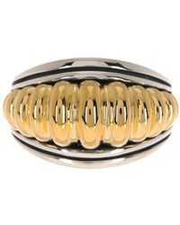 Lagos 18k Gold Plated Sterling Silver Fluted Ring - Metallic