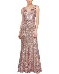 Ignite Glitter Sequin Long Dress - Multicolor
