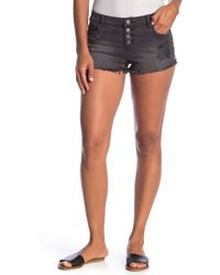 Billabong - Button Fly Distressed Frayed Shorts - Lyst