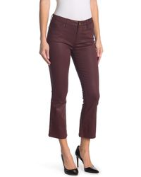 FRAME Le Crop Mini Bootcut Coated Jeans - Purple
