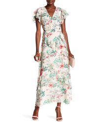RACHEL Rachel Roy - Layered Floral Print Maxi Dress - Lyst
