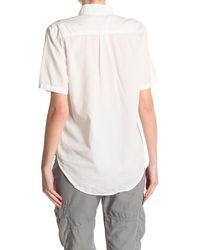 Bliss and Mischief Miley Short Sleeve Button Up - White