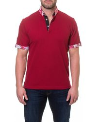 Maceoo - Contrast Short Sleeve Polo - Lyst