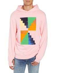 FRAME Pyramid Classic Fit Hoodie - Pink