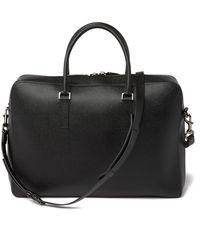Valentino Leather Briefcase - Black