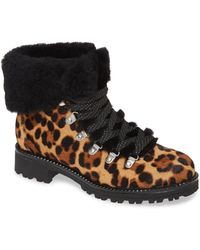 J.Crew Genuine Shearling & Genuine Calf Hair Nordic Boot - Black