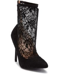 In Touch Footwear - Lala Lace Heeled Bootie - Lyst