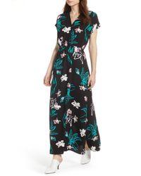 Halogen - (r) V-neck Maxi Dress (regular & Petite) - Lyst