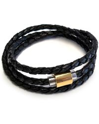 Liza Schwartz - Original Triple Wrap Black Premium Leather Bracelet - Lyst