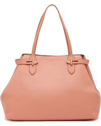Anne Klein - Belted Leather Tote Bag - Lyst