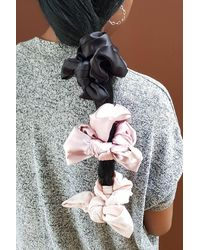 Berry Chunky Bow Scrunchie Set - Multicolor