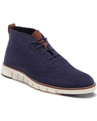 Cole Haan - Zerogrand Stitched Wool Chukka Boot - Lyst