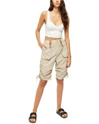 Free People Cassidy Cargo Short - Natural