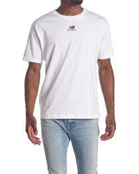 New Balance Essentials Stacked Logo Tee - White