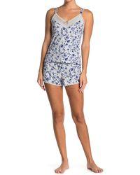 Jessica Simpson Rose Vines Cami & Shorts 2-piece Set - Blue