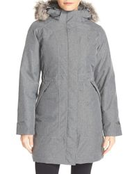 The North Face - Arctic Down Parka With Removable Faux Fur Trim Hood - Lyst