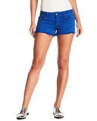 Siwy Camilla Fray Hem Shorts - Blue
