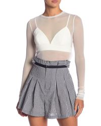 Kendall + Kylie - Mesh Top With Bra - Lyst