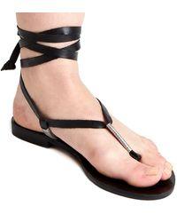 Matisse Positano Leather Sandal - Black