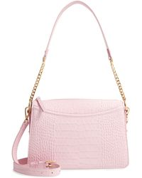 Nordstrom Lola Leather Crossbody Bag - Pink