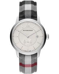 Burberry - Men's Stone Horeseferry Quartz Fabric Strap Watch - Lyst
