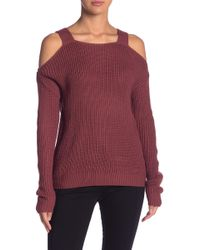 Olive & Oak - Olympia Cold Shoulder Sweater - Lyst