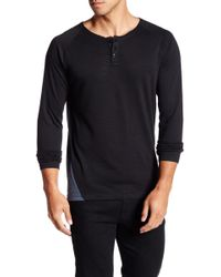 7 Diamonds - Norva Long Sleeve Henley Shirt - Lyst