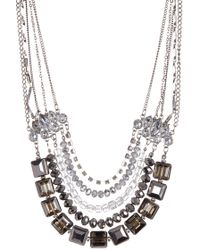 c.A.K.e. By Ali Khan - Faceted Glass Crystal Necklace & Earrings 2-piece Set - Lyst
