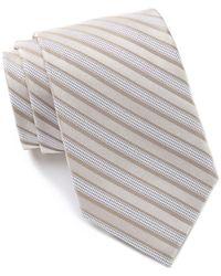 Calvin Klein Bold Stripe Silk Tie - Gray