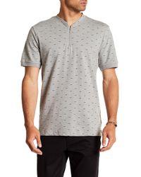 Kenneth Cole - Short Sleeve Zip-up Shirt - Lyst
