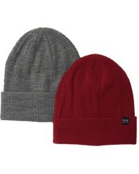Bickley + Mitchell Knit Beanie - Pack Of 2 - Red