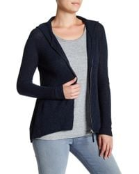 Subtle Luxury - Cashmere Fit And Flare Zip Up Hoodie - Lyst