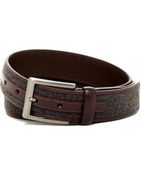 Trafalgar - Leather & Felted Inlay Belt - Lyst