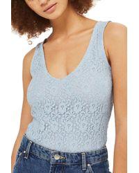 TOPSHOP - Lace-up Back Bodysuit - Lyst