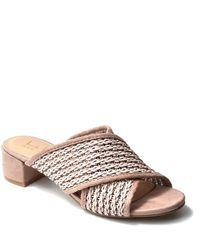 Nicole Miller Criss Cross Mule Sandal - Multicolor