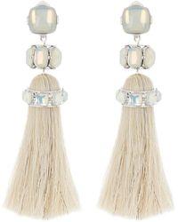 Tory Burch Faux Stone Tassel Dangle Earrings - Multicolour