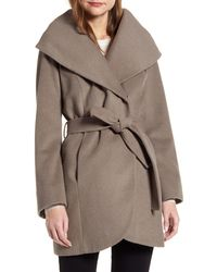 Halogen Wool Blend Wrap Coat - Multicolor