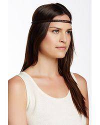 Ficcare - Braided Leather Headband - Lyst