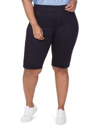 NYDJ Cuffed Pull-on Bermuda Shorts - Black