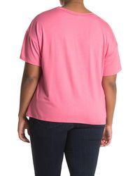 Lush Crew Neck Short Sleeve Pocket T-shirt - Pink
