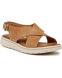 Born - Balanga Leather Crisscross Sandal - Lyst