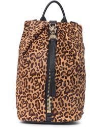 Aimee Kestenberg Tamitha Novelty Leather & Genuine Calf Hair Mini Backpack - Black