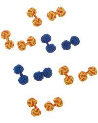 Link Up - Assorted Silk Knot Cufflinks - Lyst